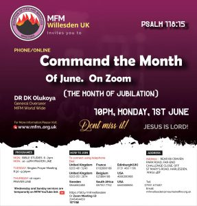 COMMAND THE MONTH SERVICE (1st Day of every month )