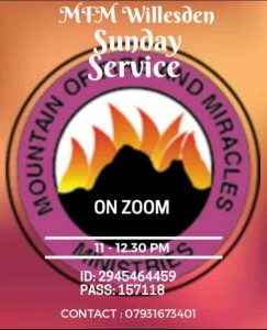 SUNDAYS VIRTUAL CELEBRATION SERVICE